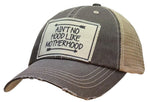"""Ain't No Hood Like Motherhood"" Distressed Trucker Cap"