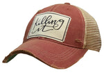 """Killing It"" Distressed Trucker Cap"