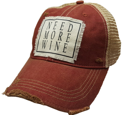 """Need More Wine""  Women's Trucker Baseball Cap"
