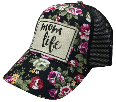 """Mom Life""  Women's Trucker Baseball Cap"