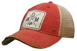 """Mom Life"" Distressed Trucker Cap"