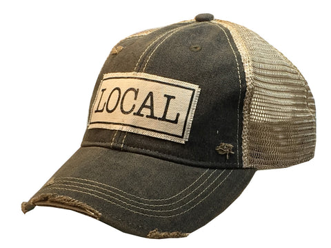 """LOCAL""  Women's Distressed Trucker Cap"