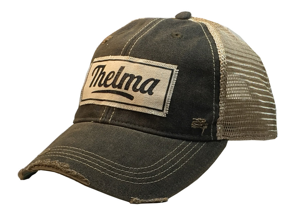 """Thelma"" Distressed Trucker Cap"