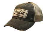 """Louise"" Distressed Trucker Cap"
