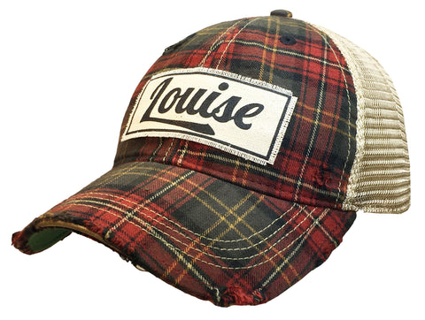 """Louise""  Women's Distressed Trucker Cap"