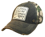 """Classy Sassy & a Bit Smart Assy"" Distressed Trucker Cap"