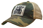 """I Sleep Around"" Distressed Trucker Cap"
