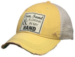 """Sun Sand & A Drink In My Hand"" Trucker Cap"