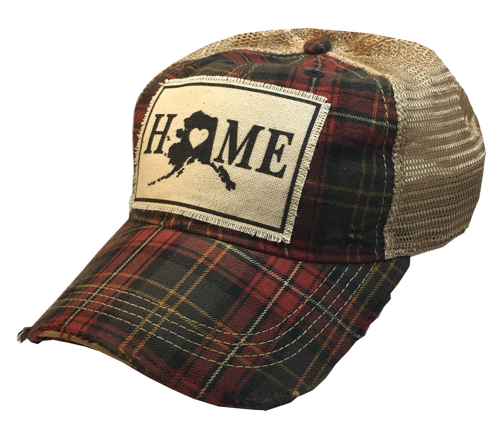 """Alaska HOME"" Distressed Trucker Cap"