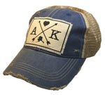 """Alaska Arrows"" Distressed Trucker Cap"
