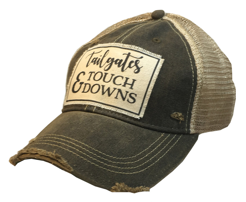 """Tailgates & Touchdowns"" Distressed Trucker Cap"