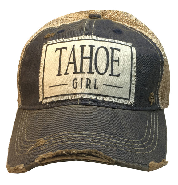 """Tahoe Girl""  Women's Distressed Trucker Cap"