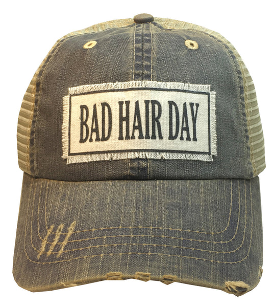 """Bad Hair Day""  Women's Distressed Trucker Cap"