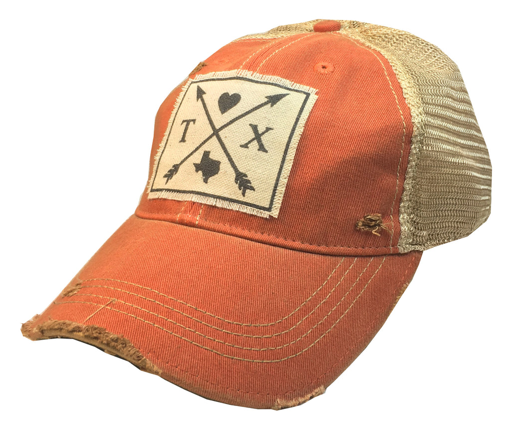 """Texas Arrows""  Women's Distressed Trucker Cap"