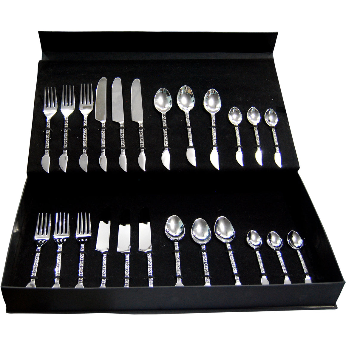 CROSS DESIGN CUTLERY (24 pcs), Cutlery Set, Fennel and Fork
