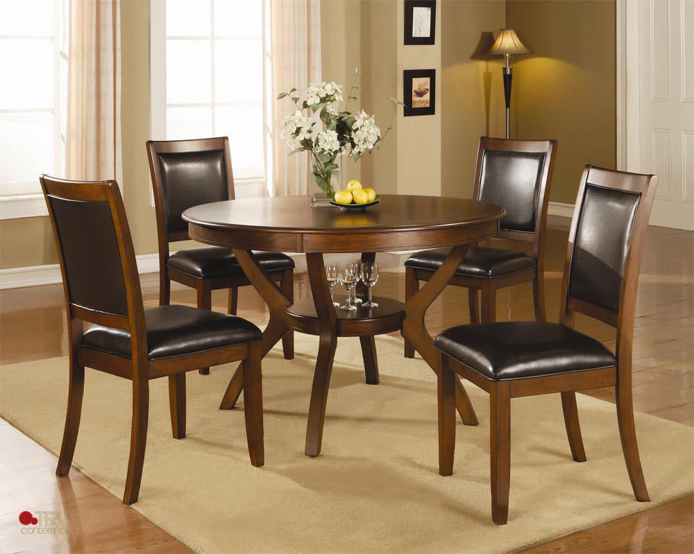 Calgary Round Dining Table Set True Contemporary