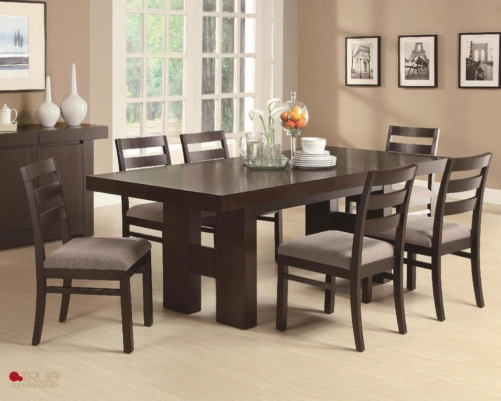 Toronto Double Pedestal Dining Room Set - True Contemporary