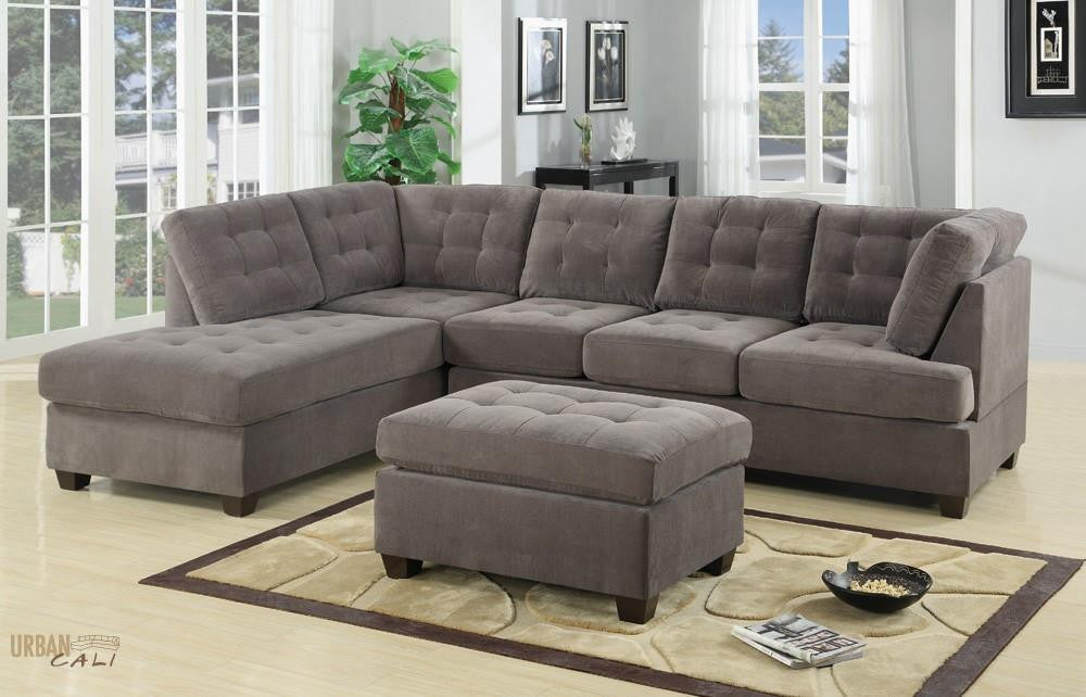 quebec leather sofa rha with pc bonded black sectional lounge chaise reversible ii
