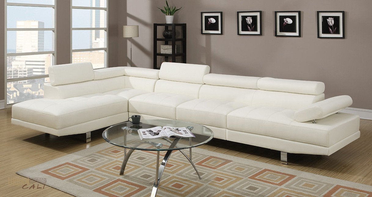los leather sofa steal white outlet a furniture abela sectional poundex