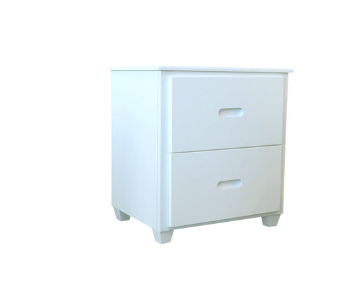 Fraser White Two Drawer Nightstand