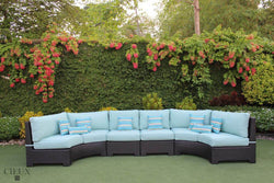 Provence Curved Large Sectional Sofa with 2 Armless Chairs