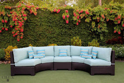 Provence Curved Small Sectional Sofa with Armless Chair