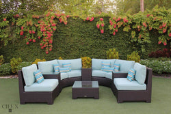 Provence Curved Large Sectional Sofa Set