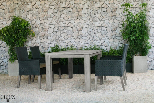 champagne outdoor table with four chairs