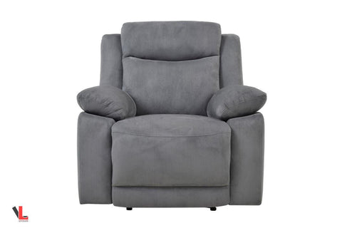 Volo Grey Fabric Reclining Chair