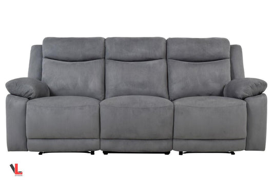 Volo Grey Fabric Reclining Sofa