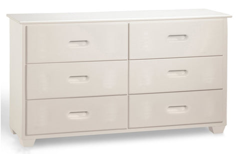 Fraser White Six Drawer Dresser