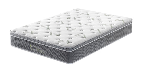 12 Inch Harmony Bamboo Euro Top Pocket Coil Mattress with Gel Memory Foam