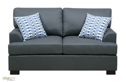 Hayward Loveseat in Slate Black Polyfiber Linen Fabric