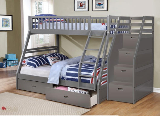True Contemporary Fraser Grey Twin Over Full Bunk Bed Kamloops