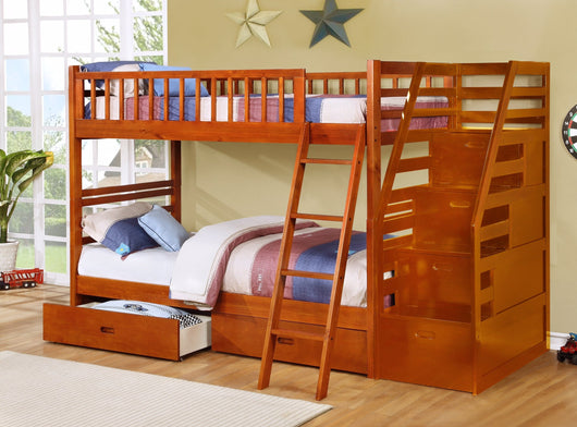 True Contemporary Fraser Oak Twin Over Twin Bunk Bed Kamloops