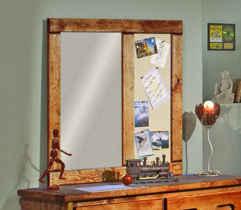 Pine Landscape Mirror in Amber Wash