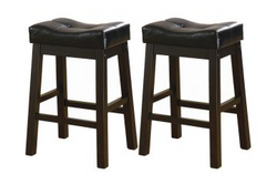 Capilano Upholstered Seat Bar Stool Set