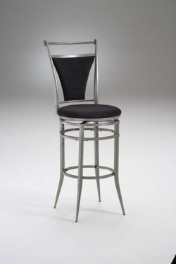 Cierra Pewter Swivel Bar Stool