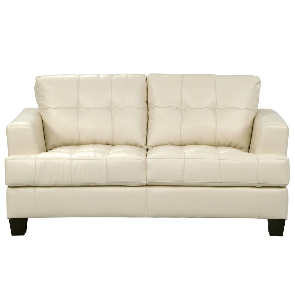 Outdoor Patio Furniture Vancouver: Toronto Tufted Bonded Leather Loveseat