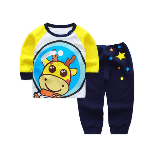 f5b58646ea625 2pcs/set Cotton Bear Baby Clothing Set, Long Sleeve Newborn Baby Boy Sets  Clothes, Baby Girl Outfit Toddler Suit For Boy Pajamas