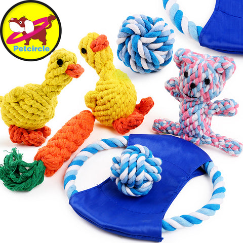 petcircle new arrivals knot pet dog toys durable flying discs knot dog toy for small and large dogs dog trainging chew toys - zackonlineshop