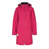 Lazy Jacks Ladies Long Line Waterproof Raincoat - Cerise