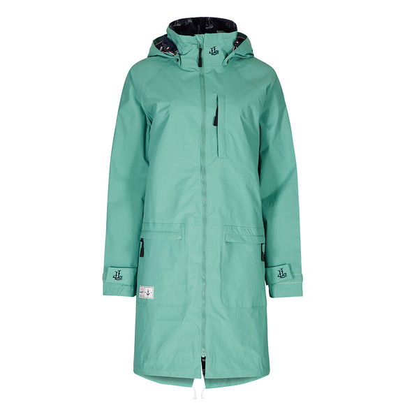 Lazy Jacks Ladies Long Line Waterproof Raincoat - Sea Spray