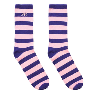 Mullins Bay Adults Bamboo Socks - Pink / Purple Stripe