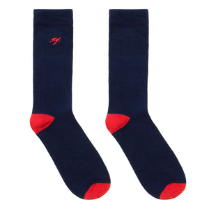 Mullins Bay Adults Bamboo Socks - Navy / Red