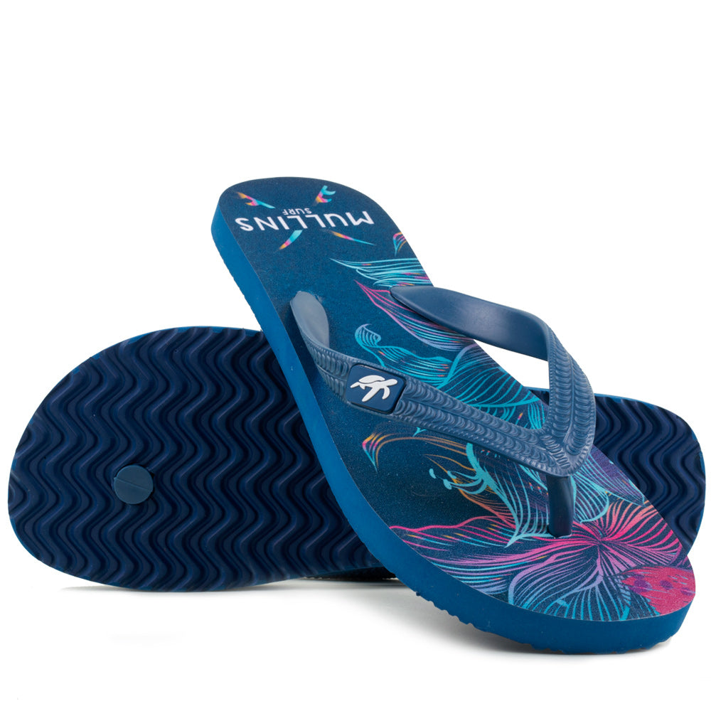 Mullins Adults Luxury Flip Flops in Lotus Blue