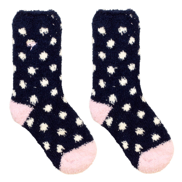 Mullins Bay Children's Cosy Socks - Navy Spot