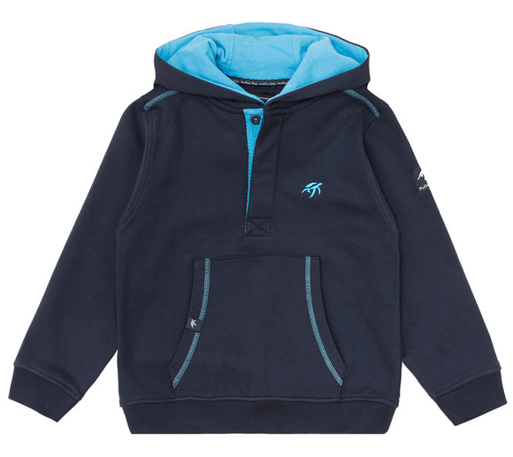 Childrens Boatyard Button Up Hood - Harbour