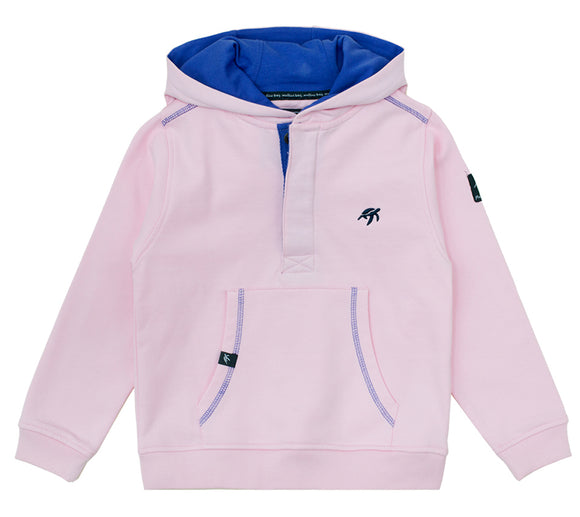 Childrens Boatyard Button Up Hood - Ice Pink