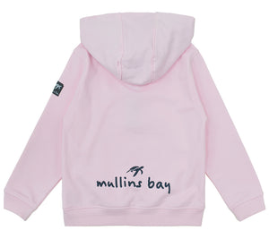 Childrens Boatyard Button Up Hood Ice Pink